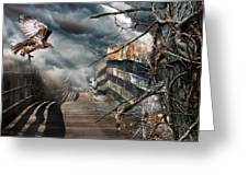 Fateful Crossing Greeting Card by Christina Rollo