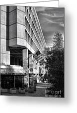 Fbi Building Modern Fortress Greeting Card by Olivier Le Queinec