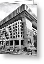 Fbi Building Rear View Greeting Card by Olivier Le Queinec