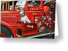 Fdny Chief Greeting Card by Paul Walsh
