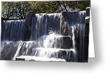 Fdr Memorial - Washington Dc - 01131 Greeting Card by DC Photographer