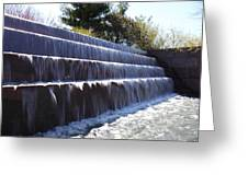 Fdr Memorial - Washington Dc - 01133 Greeting Card by DC Photographer