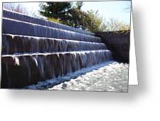 FDR Memorial - Washington DC - 01134 Greeting Card by DC Photographer
