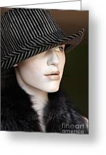 Fedora And Fur Greeting Card by Sophie Vigneault