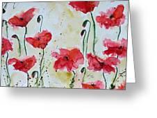 Feel The Summer 1 - Poppies Greeting Card by Ismeta Gruenwald