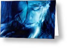 Feeling A Little Blue Greeting Card by Gun Legler