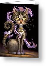 Feline Fantasy Greeting Card by Jeff Haynie