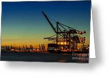Felixstowe Docks Greeting Card by Svetlana Sewell