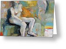 Female Nude 2 Greeting Card by Becky Kim
