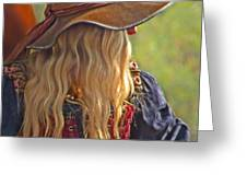 Female Pirate Greeting Card by Tom Gari Gallery-Three-Photography