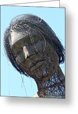 Female Sculpture On San Francisco Treasure Island 7d25445 Greeting Card by Wingsdomain Art and Photography
