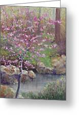 Femme Osage Spring Greeting Card by Lorraine McFarland