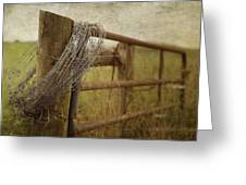 Fence Post Greeting Card by Kathy Jennings