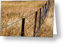 Fenced Off Greeting Card by Justin Woodhouse