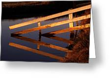 Fenced Reflection Greeting Card by Bill Gallagher