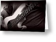 Fender Bass Greeting Card by Bob Orsillo