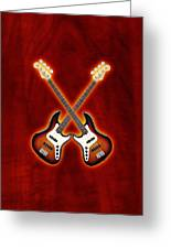 Fender Jazz Bass Lefty Greeting Card by Doron Mafdoos