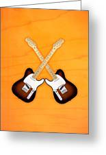 Fender Telecaster Sunburst Greeting Card by Doron Mafdoos