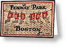 Fenway Park Boston Redsox Sign Greeting Card by Bill Cannon
