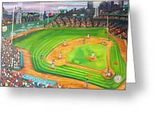 Fenway Park Fantasy Greeting Card by Michell Givens