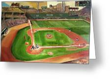 Fenway Park Greeting Card by Lindsay Frost