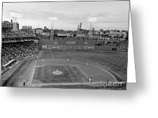 Fenway Park Photo - Black And White Greeting Card by Horsch Gallery