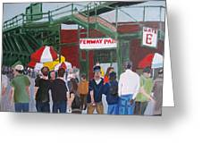 Fenway Park Spring Time Greeting Card by Carmela Cattuti