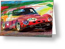Ferrari 250 Gto Vintage Racing Greeting Card by David Lloyd Glover