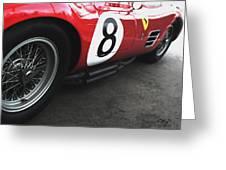 Ferrari 250 Tr 1959 Wire Wheel Greeting Card by Curt Johnson