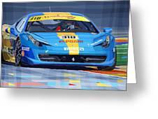 Ferrari 458 Challenge Team Ukraine 2012 Greeting Card by Yuriy  Shevchuk