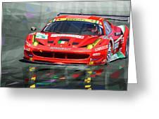 Ferrari 458 Gtc Af Corse Greeting Card by Yuriy  Shevchuk