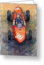 Ferrari Dino 156 1962 Monaco Gp Greeting Card by Yuriy Shevchuk