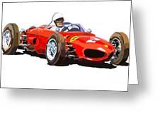Ferrari Dino 156 1962  Greeting Card by Yuriy  Shevchuk