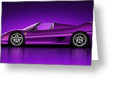 Ferrari F50 - Neon Greeting Card by Marc Orphanos