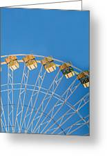Ferris Wheel 2 Greeting Card by Rebecca Cozart