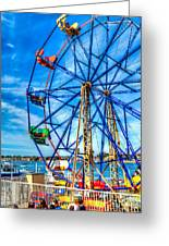 Ferris Wheel - Balboa Fun Zone Greeting Card by Jim Carrell