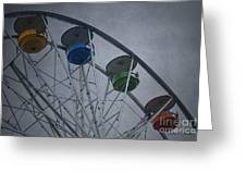 Ferris Wheel Greeting Card by David Gordon
