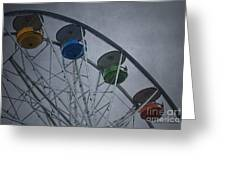 Ferris Wheel Greeting Card by Dave Gordon