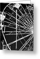 Ferris Wheel Lines Greeting Card by John Rizzuto