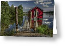 Fetsund Timber Booms part II Greeting Card by Erik Brede
