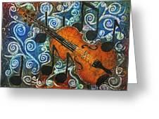 Fiddle 1 Greeting Card by Sue Duda