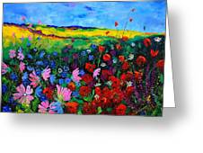 Field Flowers Greeting Card by Pol Ledent