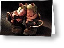 Field Mice Greeting Card by Anne Geddes