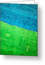 Field Of Dreams Original Painting Greeting Card by Sol Luckman
