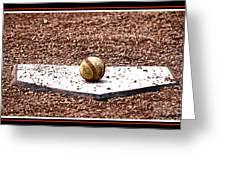 Field Of Dreams The Ball Greeting Card by Susanne Van Hulst