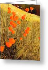 Field Of Poppies Greeting Card by Sue  Darius