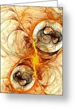Fiery Birth Greeting Card by Anastasiya Malakhova