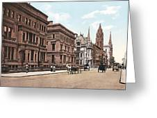 Fifth Avenue Greeting Card by Unknown