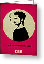Fight Club Poster Greeting Card by Naxart Studio