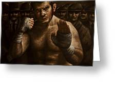 Fight Greeting Card by Mark Zelmer